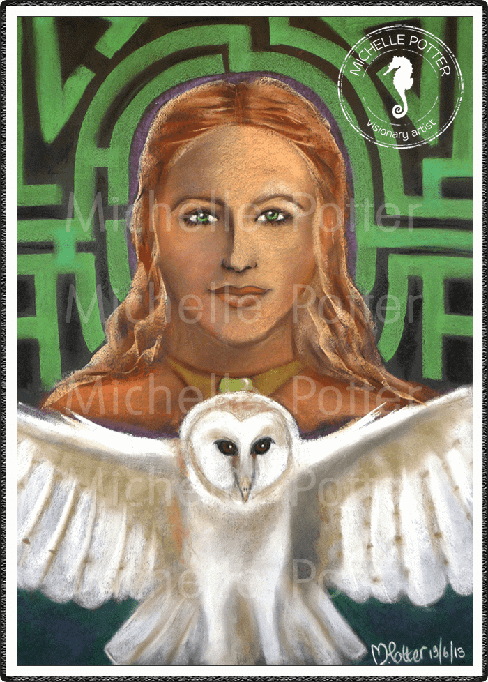 Spirit_Guide_Art_Michelle_Potter_Willow_White_Owl_Large