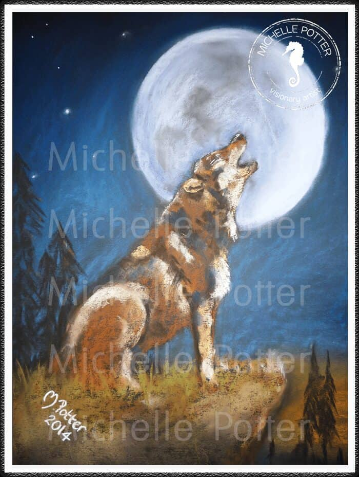 Spirit_Guide_Art_Michelle_Potter_Wolf_Howling_Moon_Large
