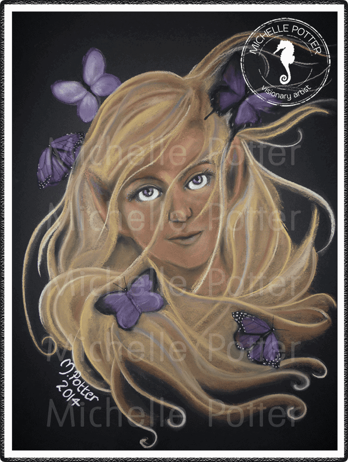 Spirit_Guide_Art_Michelle_Potter_Woman_Elven_Butterflies_Large