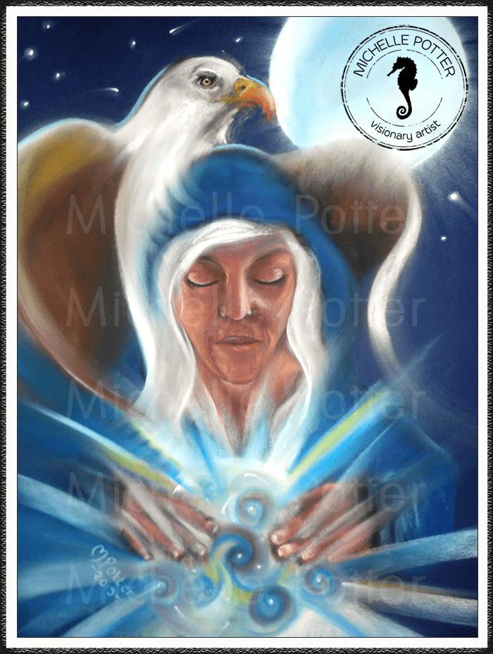 Spirit_Guide_Art_Michelle_Potter_Woman_Lilliana_Seagull_Moon_Large