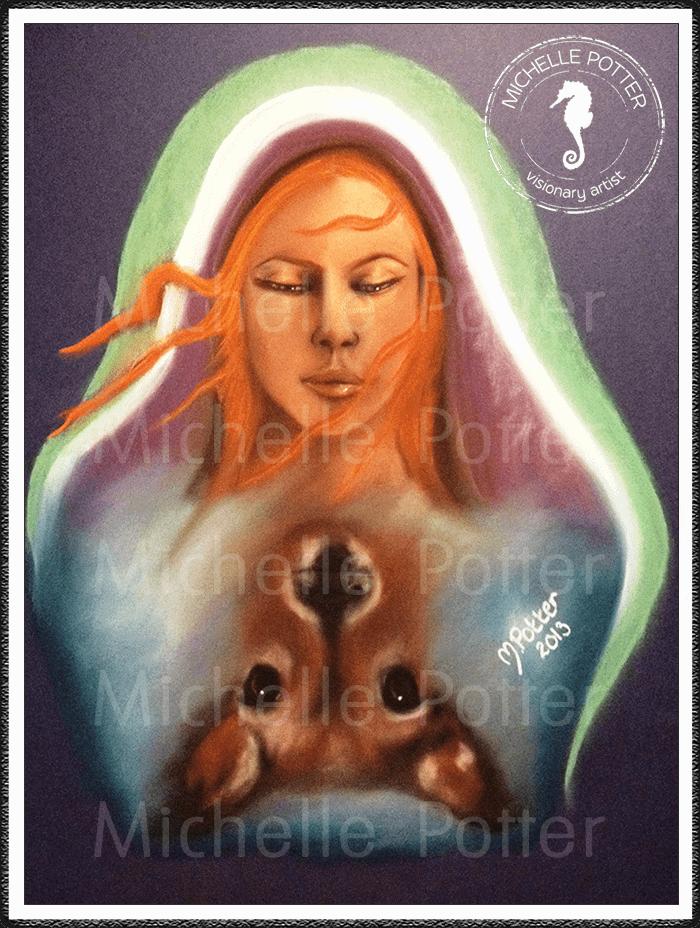 Spirit_Guide_Art_Michelle_Potter_Woman_Lisa_Deer_Large