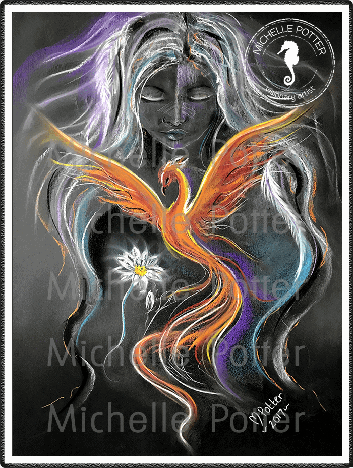 Spirit_Guide_Art_Michelle_Potter_Woman_Phoenix_Large