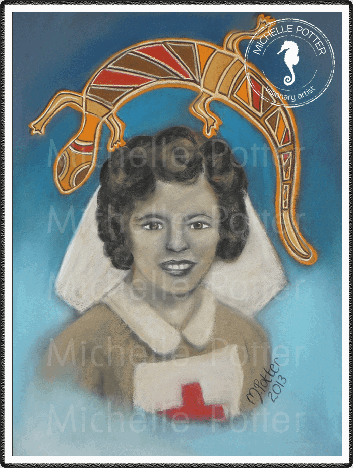 Spirit_Guide_Art_Michelle_Potter_Woman_Sarah_Whitty_Nurse_Large