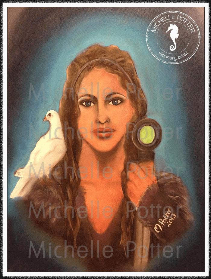 Spirit_Guide_Art_Michelle_Potter_Woman_Sword_Dove_Large