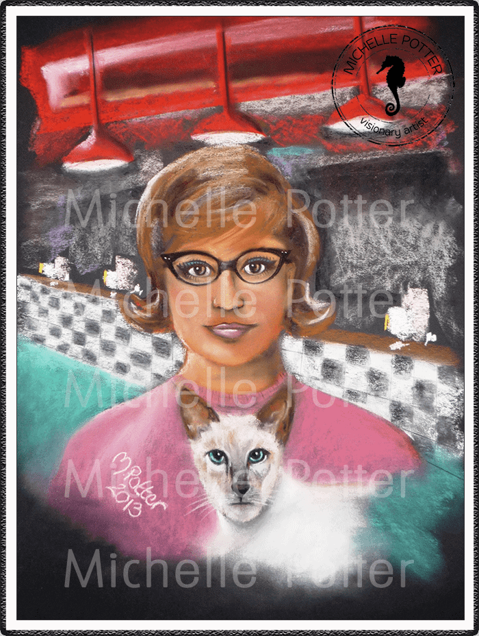 Spirit_Guide_Art_Michelle_Potter_Woman_Sylvia_White_Cat_Large