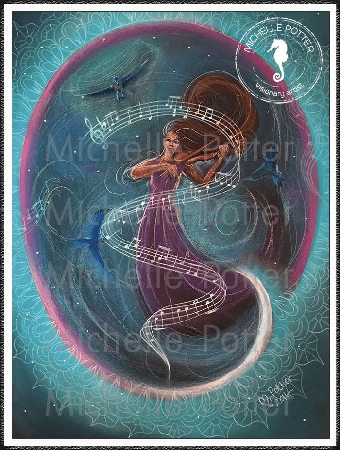 Spirit_Guide_Art_Michelle_Potter_Woman_Violin_Large