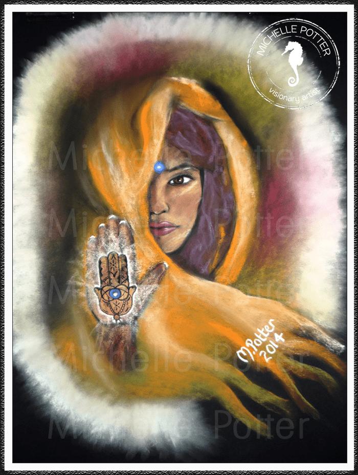 Spirit_Guide_Art_Michelle_Potter_Woman_Yasmin_Third_Eye_Large