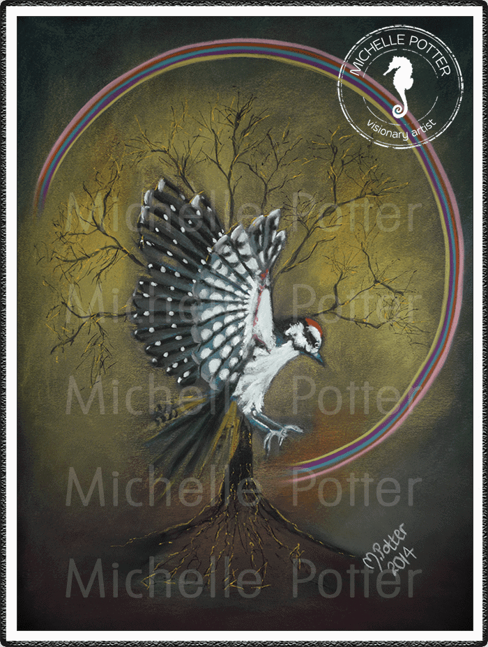 Spirit_Guide_Art_Michelle_Potter_Woodpecker_Large