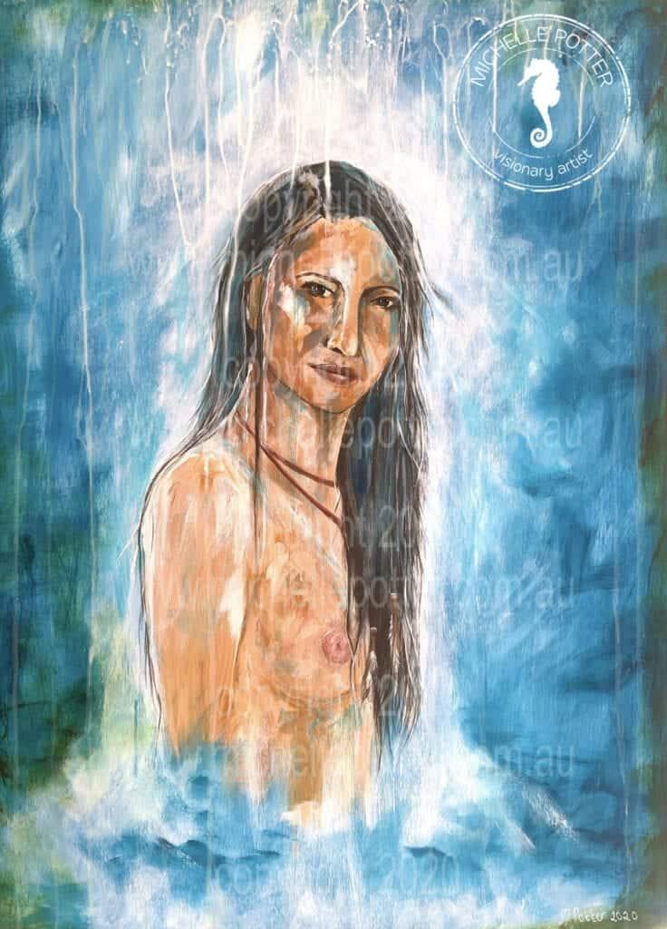 Waterfall_Acrylic_Woman_Emotion