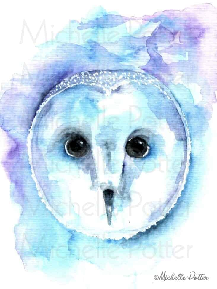 hoos_looking_at_you_watercolor_owl_Michelle_potter_artist