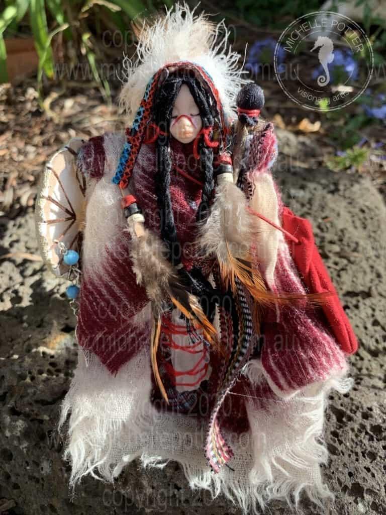 Spirit doll Drumming American Indian Born 02_05_2019 Michelle Potter Artist