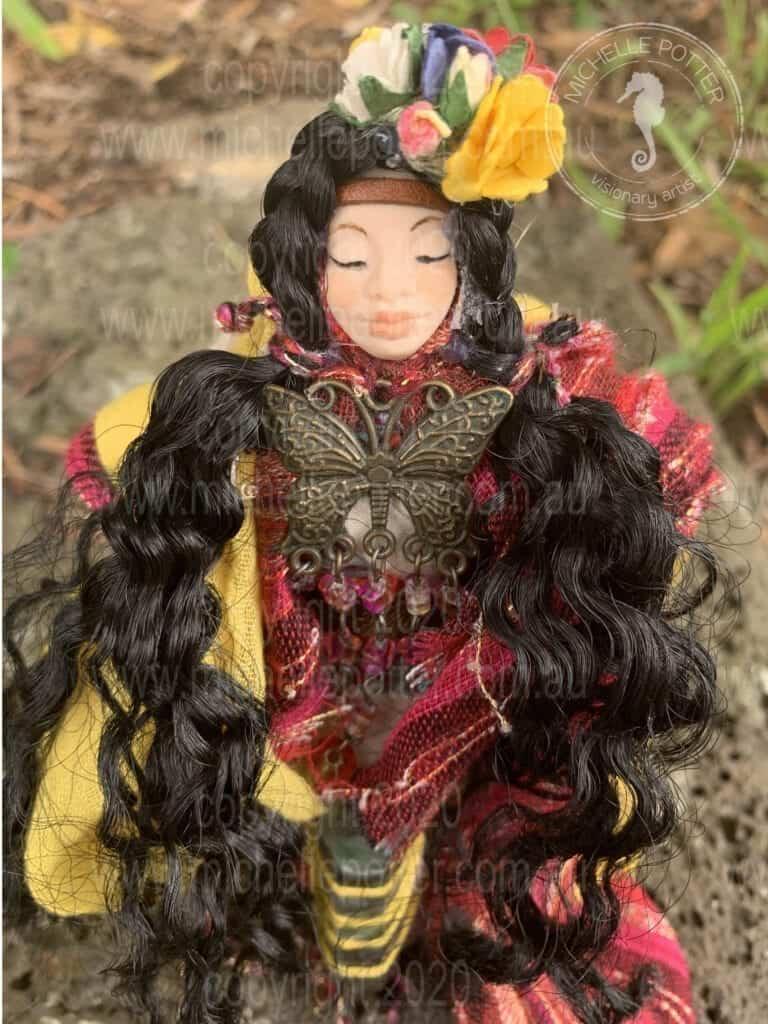 Spirit doll Elelmental Space Holder Butterfly Born 11_03_2019 Michelle Potter Artist