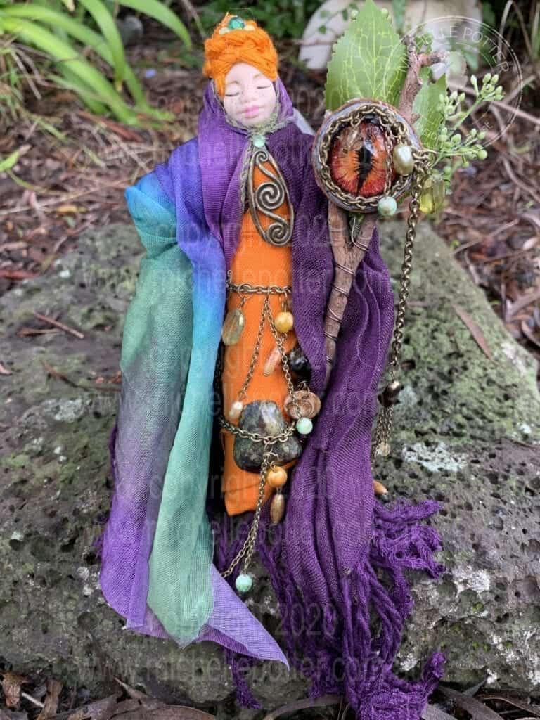 Spirit doll Elemental Creative Dragon Purple Orange Healing Michelle Potter Artist