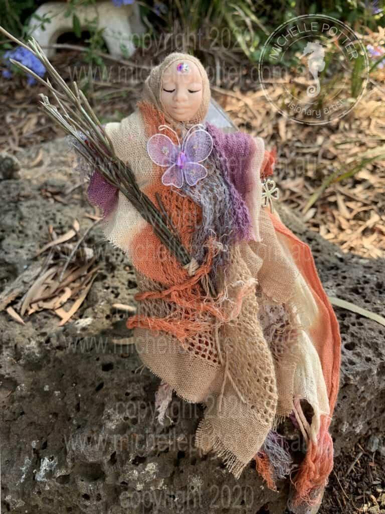 Spirit doll Elemental Earth Keeper Reiki Healing Born 16_3_2019 Michelle Potter Artist