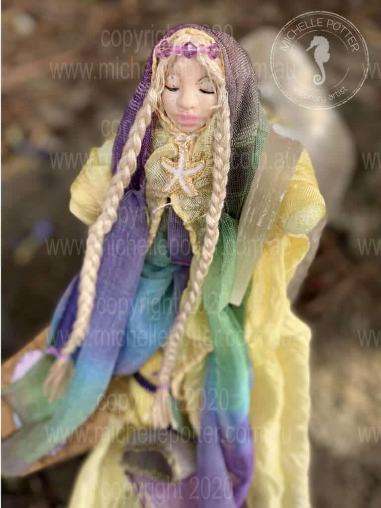 Spirit doll Elemental Ocean Healing Michelle Potter Artist