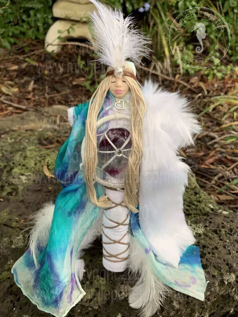 Spirit doll Light Dreamweaver Light Flourite Healing Michelle Potter Artist