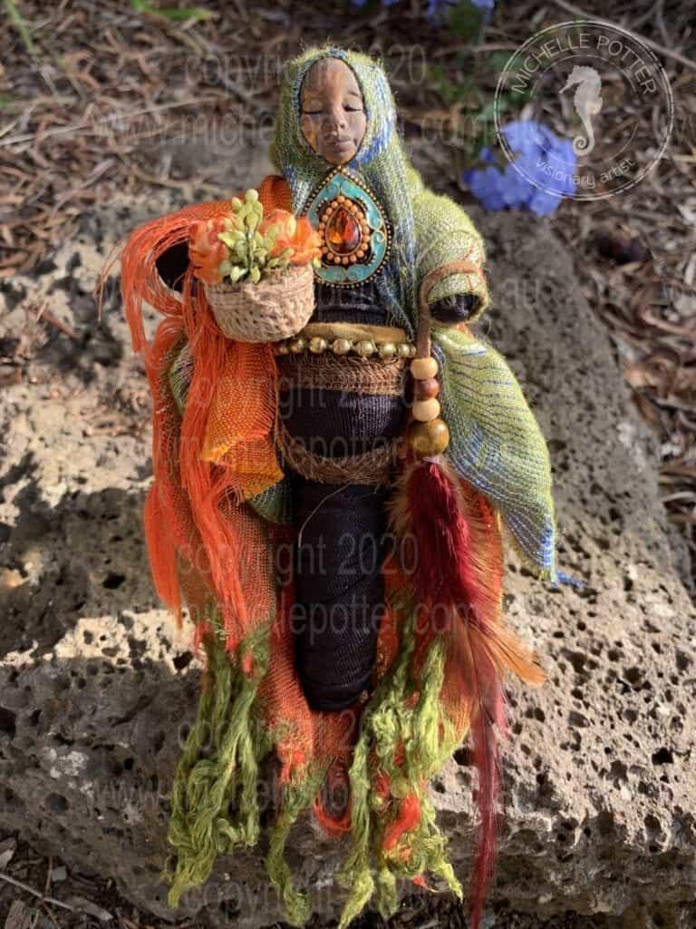 Spirit doll Motherhood Nature Born 15_05_2019 Michelle Potter Artist