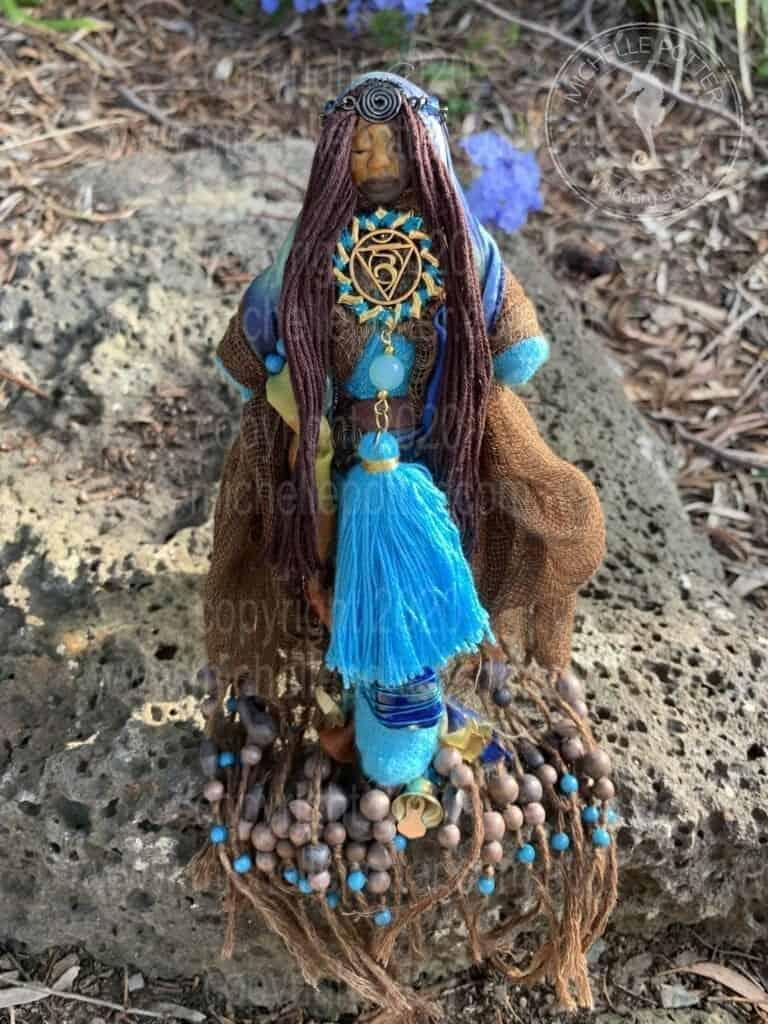 Spirit doll Throat Chakra Shaman Healing Reiki Born 16_05_2019 Michelle Potter Artist